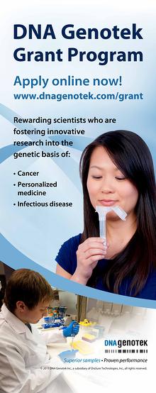 DNA Genotek grant program dna saliva