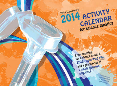 DNA Genotek Oragene calendar 2014